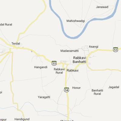 satellite map image of Rabkavi( Rabkavi,Karnataka ಉಪಗ್ರಹ ನಕ್ಷೆ ಚಿತ್ರ )