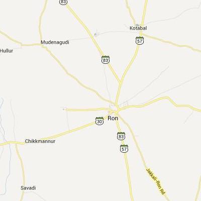 satellite map image of Ron( Ron,Karnataka ಉಪಗ್ರಹ ನಕ್ಷೆ ಚಿತ್ರ )