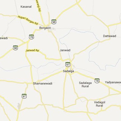 satellite map image of Sadalgi( Sadalgi,Karnataka ಉಪಗ್ರಹ ನಕ್ಷೆ ಚಿತ್ರ )