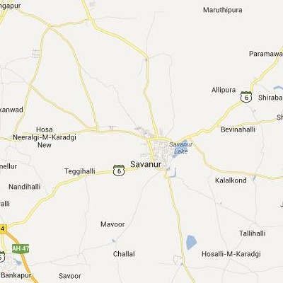 satellite map image of Savanur( Savanur,Karnataka ಉಪಗ್ರಹ ನಕ್ಷೆ ಚಿತ್ರ )