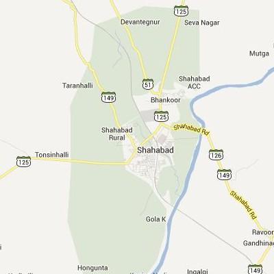 satellite map image of Shahabad( Shahabad,Karnataka ಉಪಗ್ರಹ ನಕ್ಷೆ ಚಿತ್ರ )