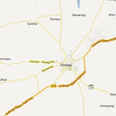 satellite map image of Sindgi( Sindgi,Karnataka ಉಪಗ್ರಹ ನಕ್ಷೆ ಚಿತ್ರ )
