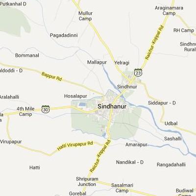 satellite map image of Sindhnur( Sindhnur,Karnataka ಉಪಗ್ರಹ ನಕ್ಷೆ ಚಿತ್ರ )
