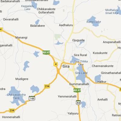 satellite map image of Sira( Sira,Karnataka ಉಪಗ್ರಹ ನಕ್ಷೆ ಚಿತ್ರ )