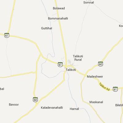 satellite map image of Talikota( Talikota,Karnataka ಉಪಗ್ರಹ ನಕ್ಷೆ ಚಿತ್ರ )