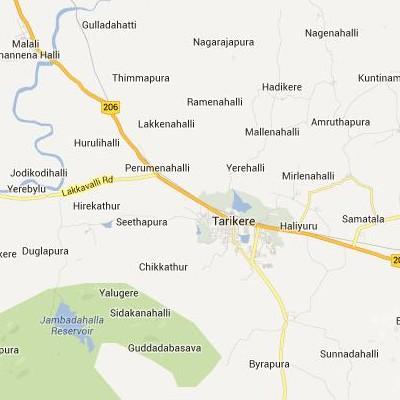 satellite map image of Tarikere( Tarikere,Karnataka ಉಪಗ್ರಹ ನಕ್ಷೆ ಚಿತ್ರ )