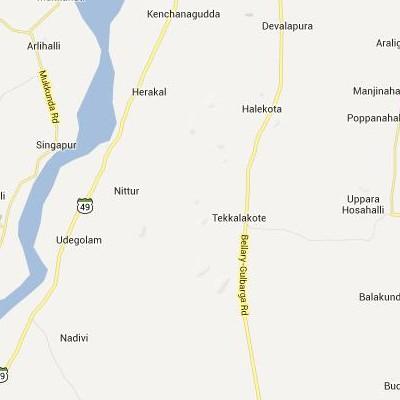 satellite map image of Tekkalakote( Tekkalakote,Karnataka ಉಪಗ್ರಹ ನಕ್ಷೆ ಚಿತ್ರ )