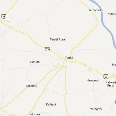 satellite map image of Terdal( Terdal,Karnataka ಉಪಗ್ರಹ ನಕ್ಷೆ ಚಿತ್ರ )
