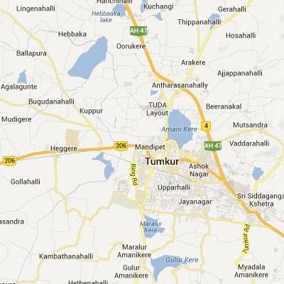 satellite map image of Tumkur( Tumkur,Karnataka ಉಪಗ್ರಹ ನಕ್ಷೆ ಚಿತ್ರ )