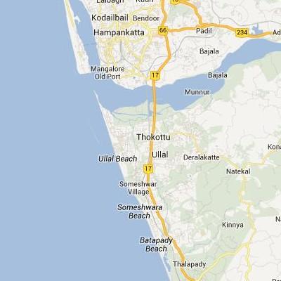 satellite map image of Ullal( Ullal,Karnataka ಉಪಗ್ರಹ ನಕ್ಷೆ ಚಿತ್ರ )