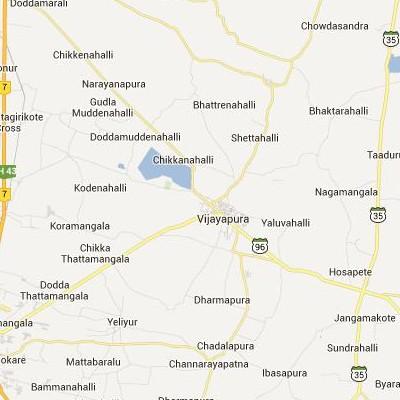 satellite map image of Vijayapura( Vijayapura,Karnataka ಉಪಗ್ರಹ ನಕ್ಷೆ ಚಿತ್ರ )