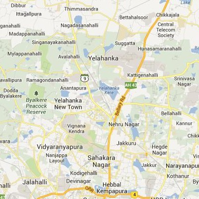 satellite map image of Yelahanka( Yelahanka,Karnataka ಉಪಗ್ರಹ ನಕ್ಷೆ ಚಿತ್ರ )