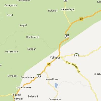 satellite map image of Yellapur( Yellapur,Karnataka ಉಪಗ್ರಹ ನಕ್ಷೆ ಚಿತ್ರ )