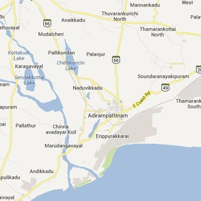 satellite map image of Adirampattinam( Adirampattinam,tamilnadu செயற்கைக்கோள் வரைபடம் படம்)