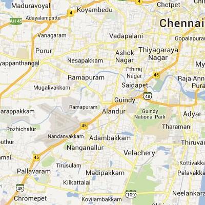 satellite map image of Alandur( Alandur,tamilnadu செயற்கைக்கோள் வரைபடம் படம்)