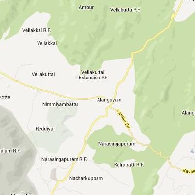 satellite map image of Alangayam( Alangayam,tamilnadu செயற்கைக்கோள் வரைபடம் படம்)