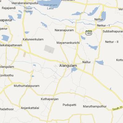 satellite map image of Alangulam( Alangulam,tamilnadu செயற்கைக்கோள் வரைபடம் படம்)