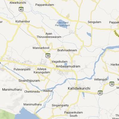 satellite map image of Ambasamudram( Ambasamudram,tamilnadu செயற்கைக்கோள் வரைபடம் படம்)