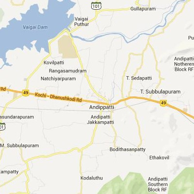 satellite map image of Andippatti( Andippatti,tamilnadu செயற்கைக்கோள் வரைபடம் படம்)