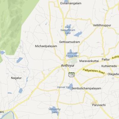 satellite map image of Anthiyur( Anthiyur,tamilnadu செயற்கைக்கோள் வரைபடம் படம்)