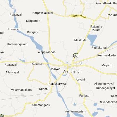 satellite map image of Arantangi( Arantangi,tamilnadu செயற்கைக்கோள் வரைபடம் படம்)