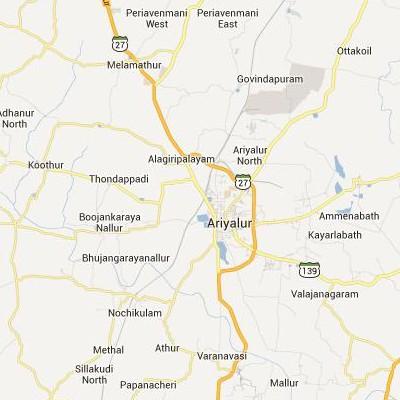 satellite map image of Ariyalur( Ariyalur,tamilnadu செயற்கைக்கோள் வரைபடம் படம்)