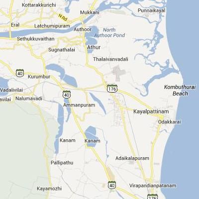 satellite map image of Arumuganeri( Arumuganeri,tamilnadu செயற்கைக்கோள் வரைபடம் படம்)