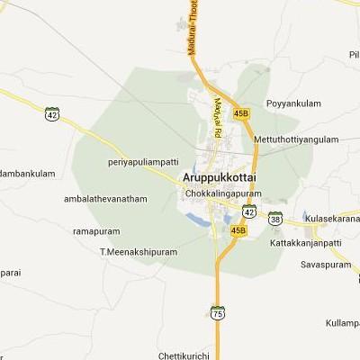 satellite map image of Aruppukkottai( Aruppukkottai,tamilnadu செயற்கைக்கோள் வரைபடம் படம்)