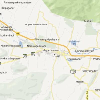 satellite map image of Attur( Attur,tamilnadu செயற்கைக்கோள் வரைபடம் படம்)