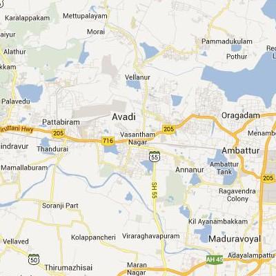 satellite map image of Avadi( Avadi,tamilnadu செயற்கைக்கோள் வரைபடம் படம்)