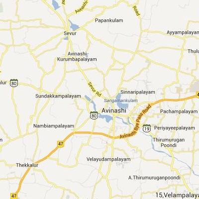 satellite map image of Avinashi( Avinashi,tamilnadu செயற்கைக்கோள் வரைபடம் படம்)