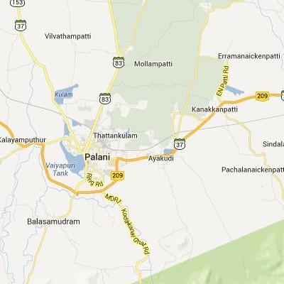 satellite map image of Ayakudi( Ayakudi,tamilnadu செயற்கைக்கோள் வரைபடம் படம்)