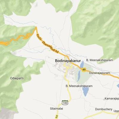 satellite map image of Bodinayakkanur( Bodinayakkanur,tamilnadu செயற்கைக்கோள் வரைபடம் படம்)