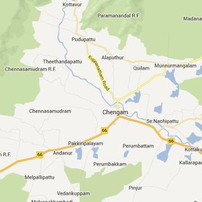 satellite map image of Chengam( Chengam,tamilnadu செயற்கைக்கோள் வரைபடம் படம்)