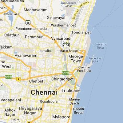 satellite map image of Chennai( Chennai,tamilnadu செயற்கைக்கோள் வரைபடம் படம்)