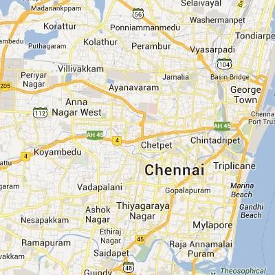satellite map image of Chetput( Chetput,tamilnadu செயற்கைக்கோள் வரைபடம் படம்)