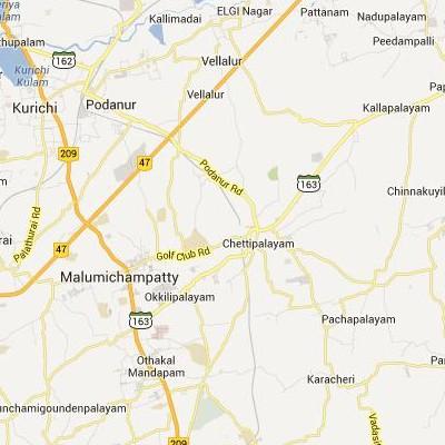 satellite map image of Chettipalaiyam( Chettipalaiyam,tamilnadu செயற்கைக்கோள் வரைபடம் படம்)