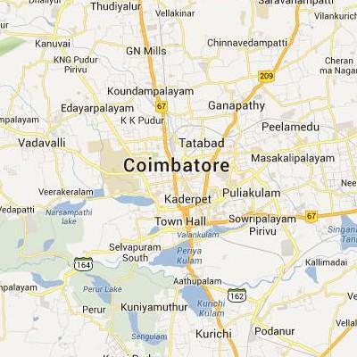 satellite map image of Coimbatore( Coimbatore,tamilnadu செயற்கைக்கோள் வரைபடம் படம்)