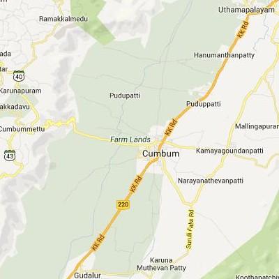 satellite map image of Cumbum( Cumbum,tamilnadu செயற்கைக்கோள் வரைபடம் படம்)