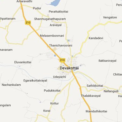 satellite map image of Devakottai( Devakottai,tamilnadu செயற்கைக்கோள் வரைபடம் படம்)