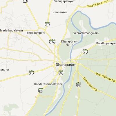 satellite map image of Dharapuram( Dharapuram,tamilnadu செயற்கைக்கோள் வரைபடம் படம்)