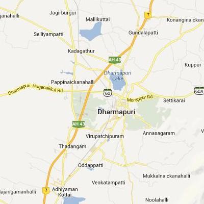 satellite map image of Dharmapuri( Dharmapuri,tamilnadu செயற்கைக்கோள் வரைபடம் படம்)