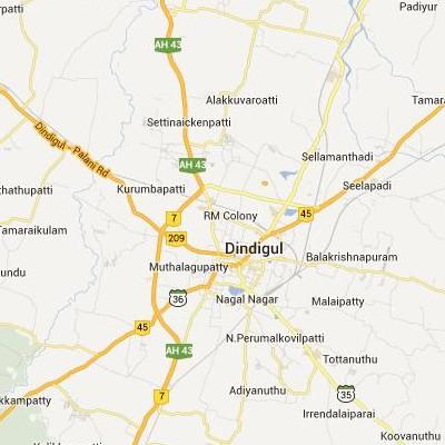 satellite map image of Dindigul( Dindigul,tamilnadu செயற்கைக்கோள் வரைபடம் படம்)