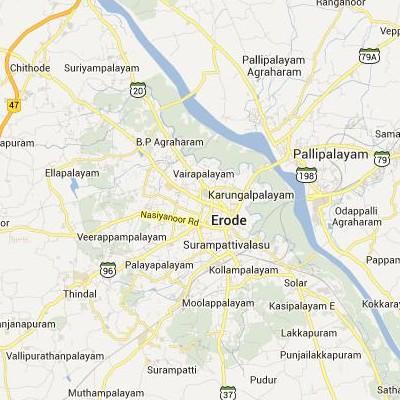 satellite map image of Erode( Erode,tamilnadu செயற்கைக்கோள் வரைபடம் படம்)