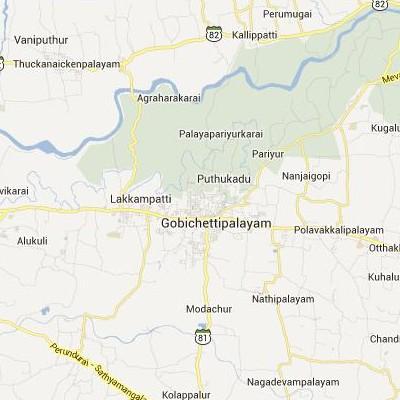 satellite map image of Gobichettipalayam( Gobichettipalayam,tamilnadu செயற்கைக்கோள் வரைபடம் படம்)