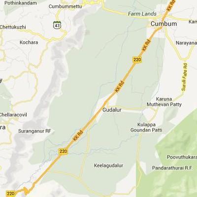 satellite map image of Gudalur( Gudalur,tamilnadu செயற்கைக்கோள் வரைபடம் படம்)