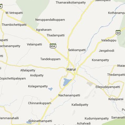 satellite map image of Harur( Harur,tamilnadu செயற்கைக்கோள் வரைபடம் படம்)