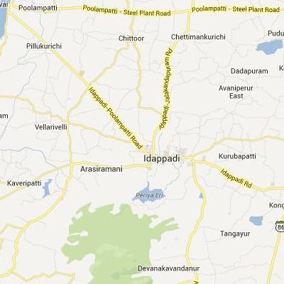 satellite map image of Idappadi( Idappadi,tamilnadu செயற்கைக்கோள் வரைபடம் படம்)