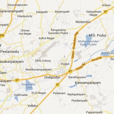 satellite map image of Irugur( Irugur,tamilnadu செயற்கைக்கோள் வரைபடம் படம்)