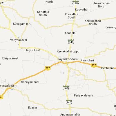 satellite map image of Jayamkondacholapuram( Jayamkondacholapuram,tamilnadu செயற்கைக்கோள் வரைபடம் படம்)